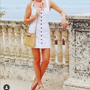 White Denim Dress from Urban Outfitters